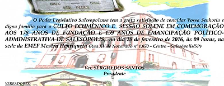 Sessão Solene de Aniversário 178 anos – 28.02.2016