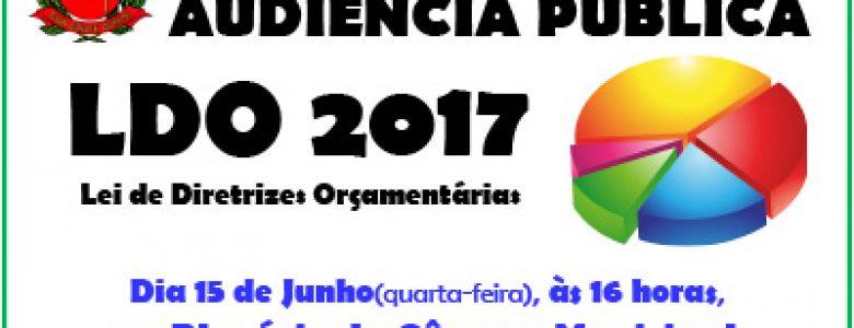 Audiência Pública LDO 2017 – 15.06.2016