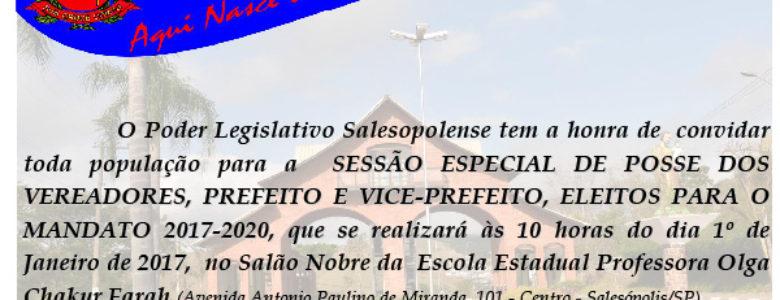 Sessão Especial de Posse 01.01.2017