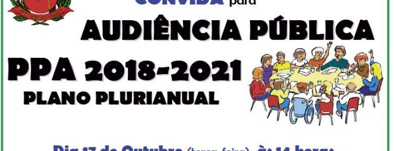 Audiência Pública PPA 2018-2021