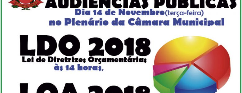 Audiências Públicas – LDO e LOA 2018